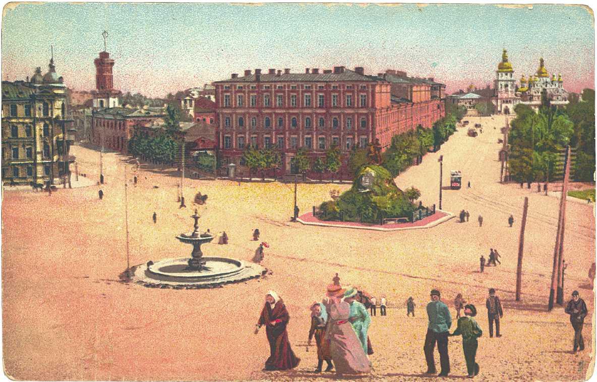 Вид Софийской площади в Киеве