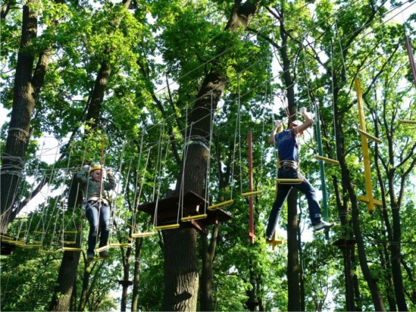 В веревочном парке, который расположен на территории СК «АТЕК», можно  попробовать свои силы на нижнем уровне на высоте 4 метров, пробежать по  подвесным ... 1b9d9820bf4