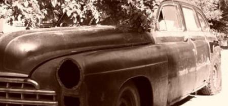 Старинный автомобиль ЗИМ