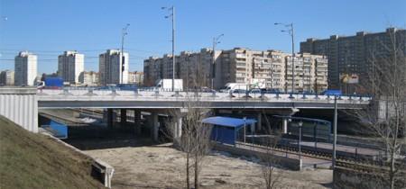Путепровод улица Бальзака. Станция Драйзера